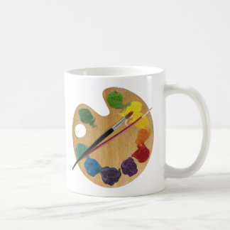 Artist`s palette colour wheel coffee mug