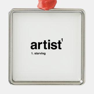 artist Silver-Colored square decoration