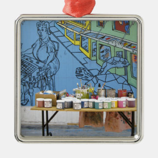 Artist Station Silver-Colored Square Decoration