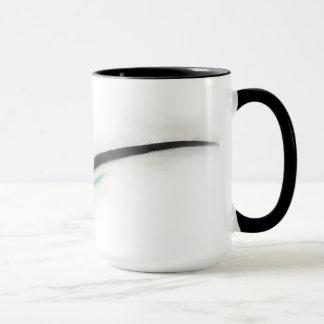 Artist Stroke, black with turquoise Mug