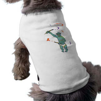 Artist trained monkey strange raw ousiter ugly art dog clothing