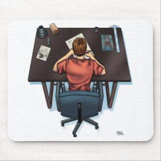 Artist Working Mouse Pad