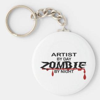 Artist Zombie Basic Round Button Key Ring