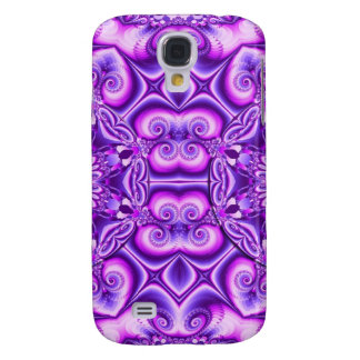 Artistic abstract design with spiral hearts samsung galaxy s4 case