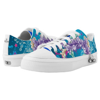 Artistic Abstract Floral Printed Shoes
