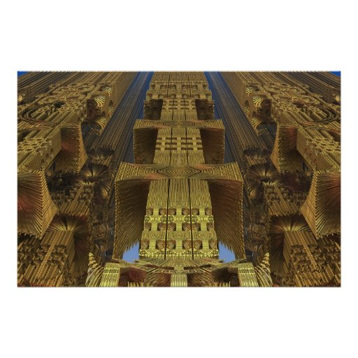 """Artistic abstract poster """"Skyscrapers"""""""