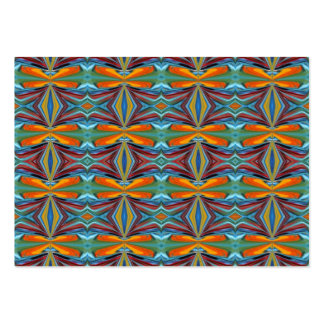Artistic Abstract  Rainbow of Colors Design Business Cards