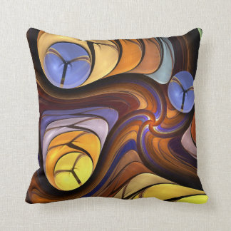 Artistic abstract swirling shapes Pillow Throw Cushion