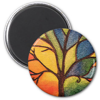 Artistic Abstract Tree Magnet