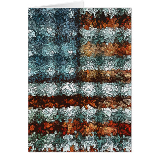Artistic American Flag Greeting Card