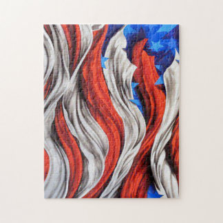 Artistic American Flag Puzzle