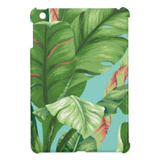 Artistic Banana Leaf & flower watercolor painting iPad Mini Cover