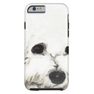 Artistic Bichon head aquarelle Tough iPhone 6 Case