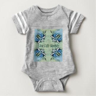 Artistic Blue Green Positive Life Modern Pattern Baby Bodysuit