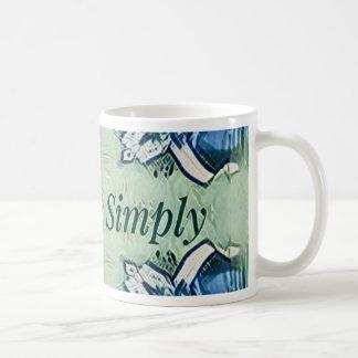 Artistic Blue Green Positive Life Modern Pattern Coffee Mug