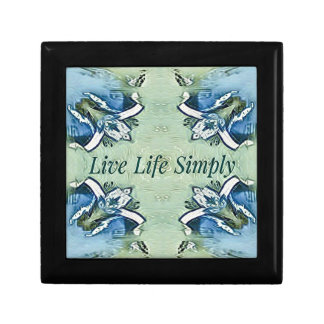Artistic Blue Green Positive Life Modern Pattern Gift Box