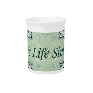 Artistic Blue Green Positive Life Modern Pattern Pitcher