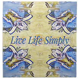 Artistic Blue Yellow Positive Life Funky Pattern Napkin