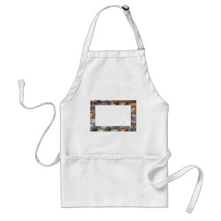 Artistic Border -  Add your text or Image Adult Apron