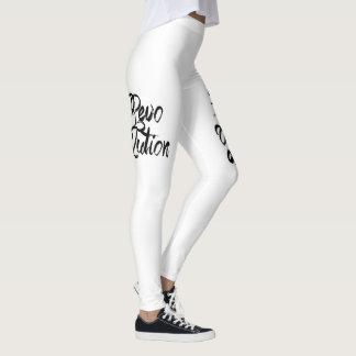 artistic brush print leggings
