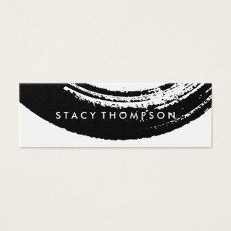 Artistic Brushed Black Mini Business Card