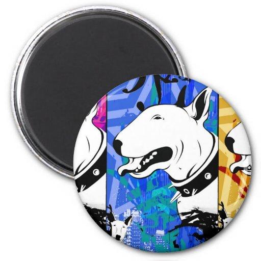 Artistic Bull Terrier Dog Breed Design Fridge Magnet