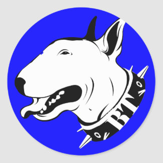 Artistic Bull Terrier Dog Breed Design Round Sticker