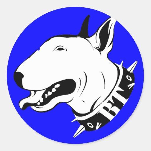 Artistic Bull Terrier Dog Breed Design Sticker
