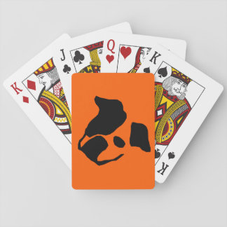 Artistic bulldog playing cards