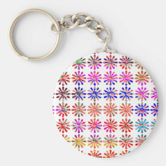 Artistic Bunch of Flowers EACH Painted UNIQUELY Keychain