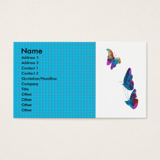 Artistic  Butterfly Flying in the Sky Business Card