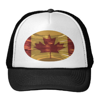 Artistic Canadian Map and MapleLeaf Trucker Hat