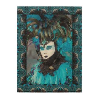 Artistic Carnival Costume Portrait, Venice Wood Wall Art
