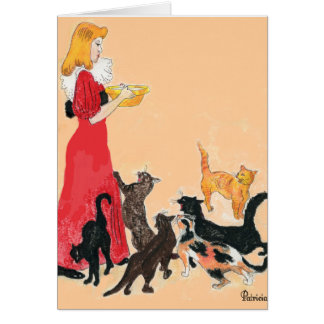 artistic cats greeting/note cards