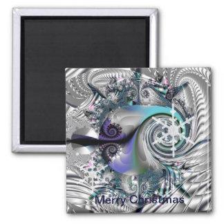 Artistic Christmas / seasonal magnet with text