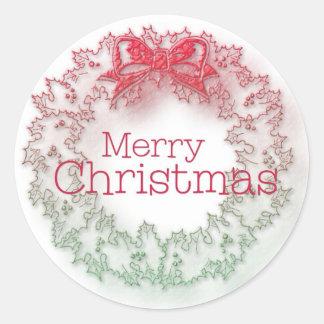 Artistic Christmas wreath Sticker