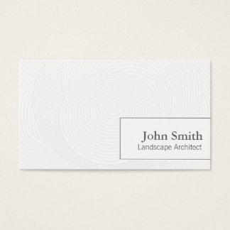 Artistic Circles Landscape Architect Business Card
