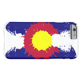 Artistic Colorado flag paint splatter iphone6 case Barely There iPhone 6 Case