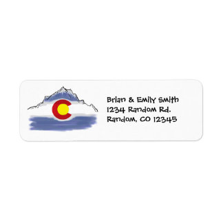 Artistic Colorado mountain custom address labels