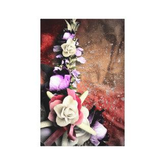 Artistic colorful floral design canvas print