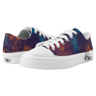 Artistic Colorful Grunge | Low Top Shoes