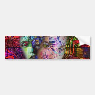 Artistic Confusion of Brain Fog Bumper Sticker