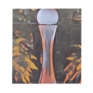 Artistic Contemporary Peach Modern Decor Notepads