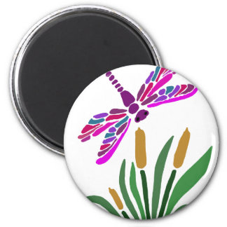 Artistic Cool Dragonfly Abstract Art Magnet