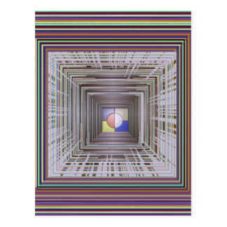 ARTISTIC Cosmic Infinity ART Light end of Tunnel Postcard