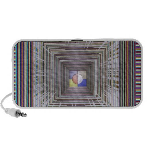 ARTISTIC Cosmic Infinity ART Light end of Tunnel Laptop Speakers