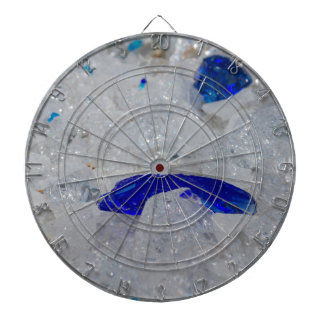 artistic creations with glass dartboard with darts