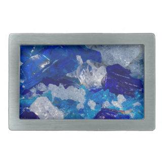 artistic creations with glass rectangular belt buckle