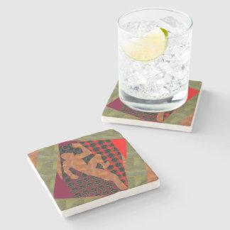 ArtistIC CRYSTAL Stone Print - MARBLE FUN Coaster Stone Coaster
