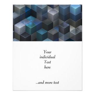 artistic cubes 9 blue (I) 11.5 Cm X 14 Cm Flyer
